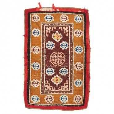 """Vintage Tibetan Wool Rug 2'9""""x4'2"""""""
