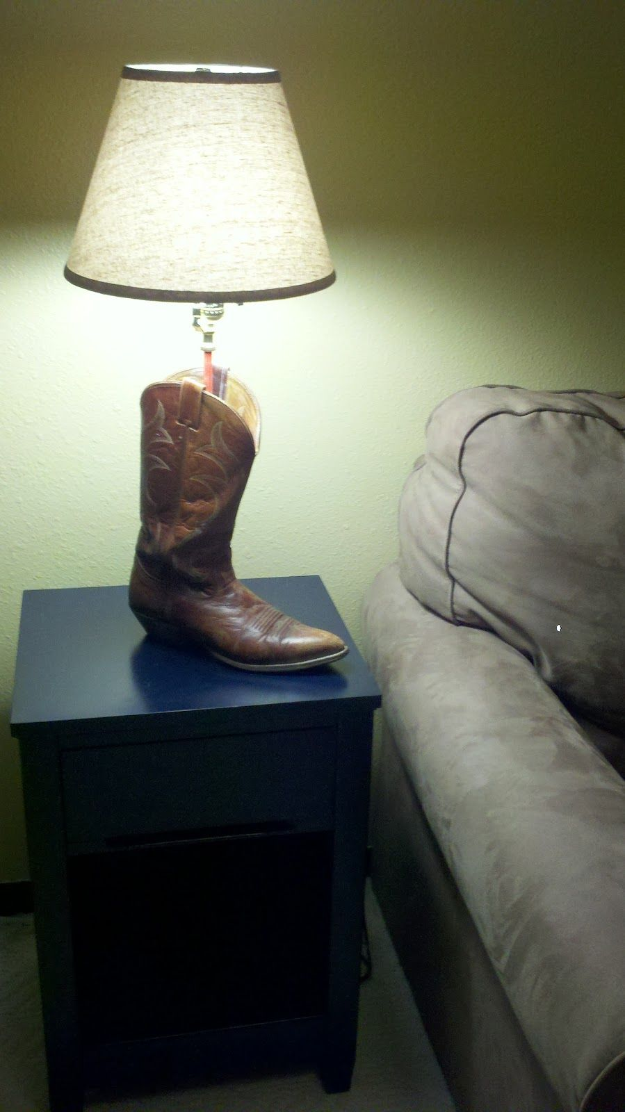 How To Make A Boot Lamp Lamp Make A Lamp Western Lamps