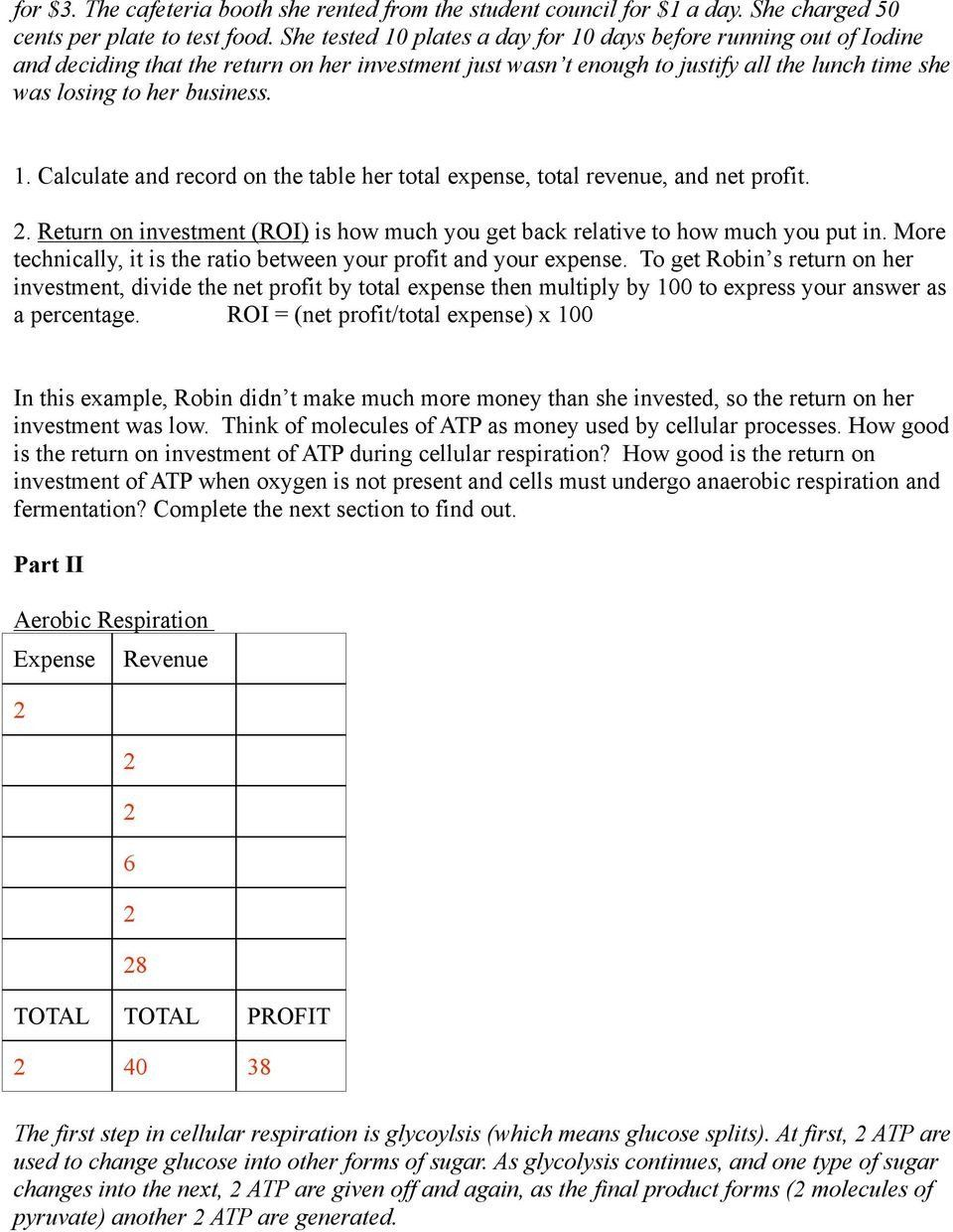 Atp Worksheet Answer Key is atp Worth the Investment Pdf