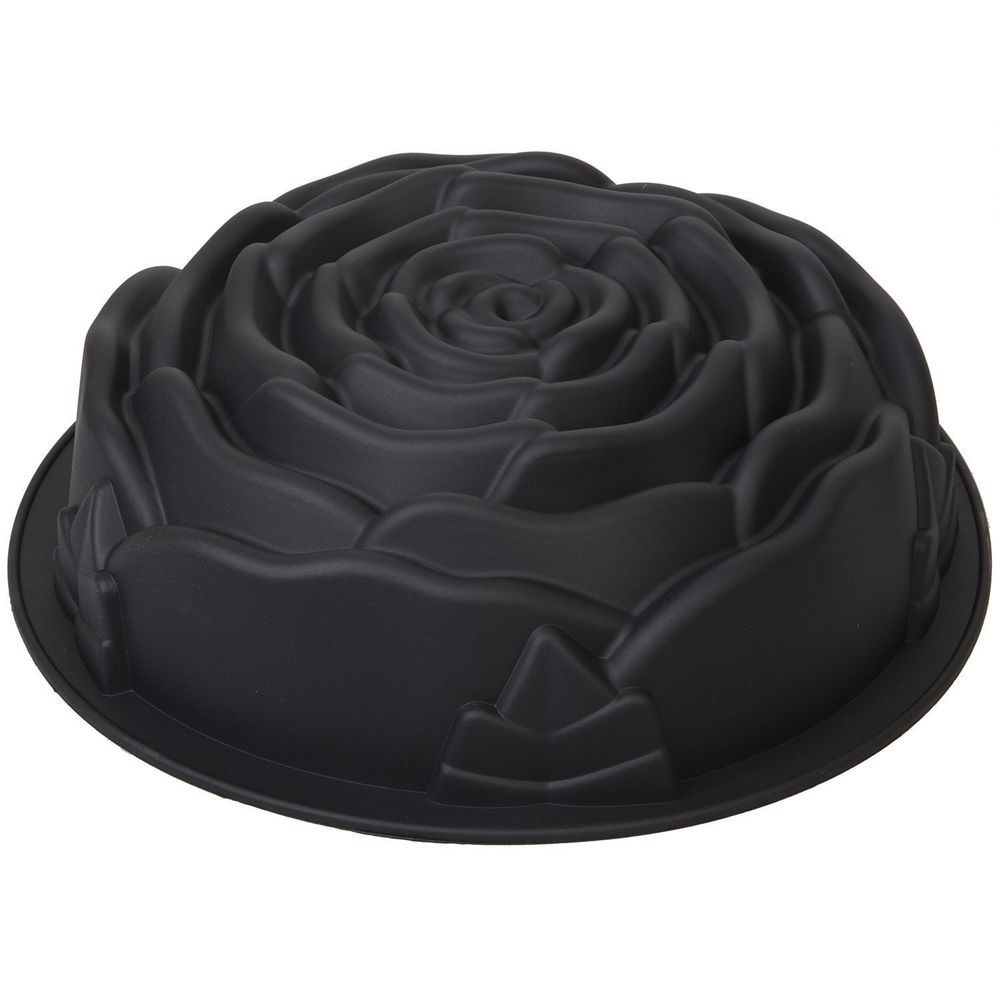 Silicone Bundt Pan Non Stick Silicone Rose Shaped Cake Mold Biscuit Baking Molds With Images Cakes For Sale Cake Mold Bundt Pan