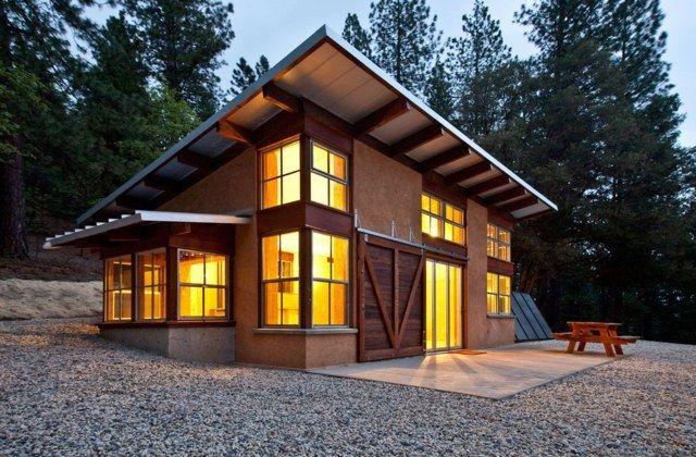 Haus Pultdach Dämmung Blech Bedeckt Vorteile
