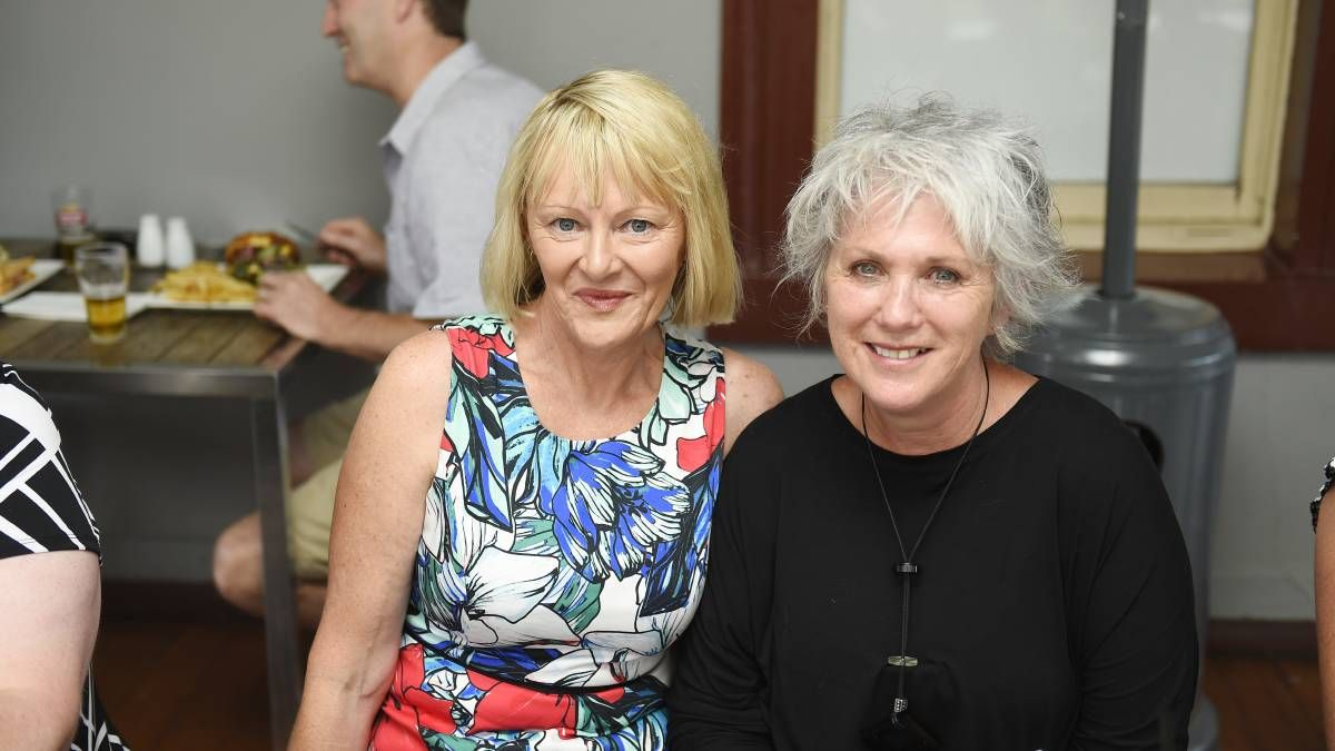 Anne Brown and Sue Mandley at the reunion of Golden Point PS.  Picture: Luka Kauzlaric.