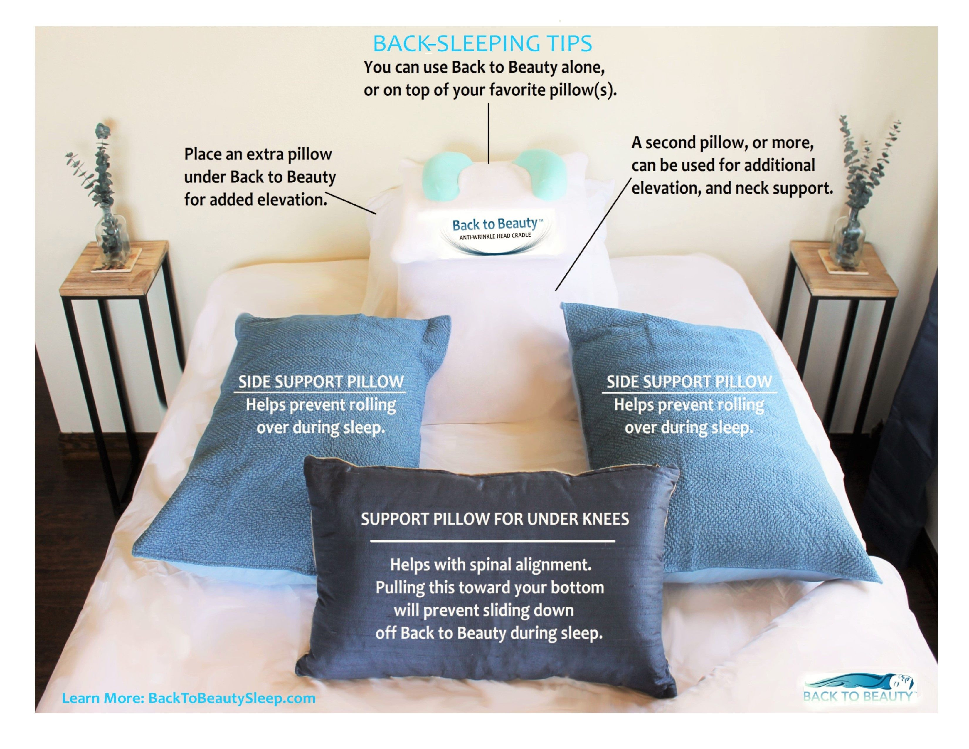 Back Sleeping Training Tips If You Are Going To Put In The Time And Effort To Train Yourself To Become A Back Sleeper We Beauty Pillow Pillows Anti Wrinkle