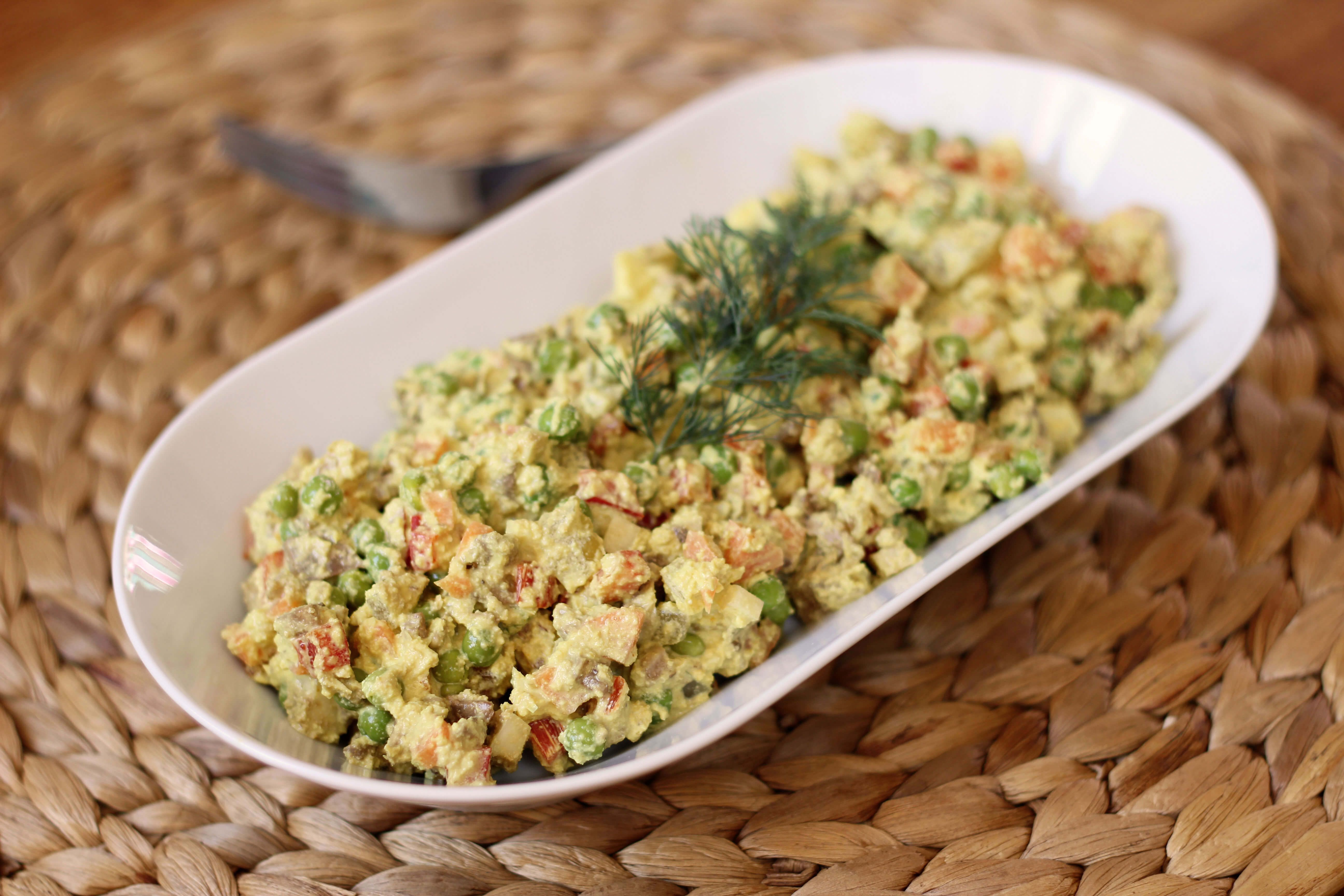 Salata de boeuf raw vegan