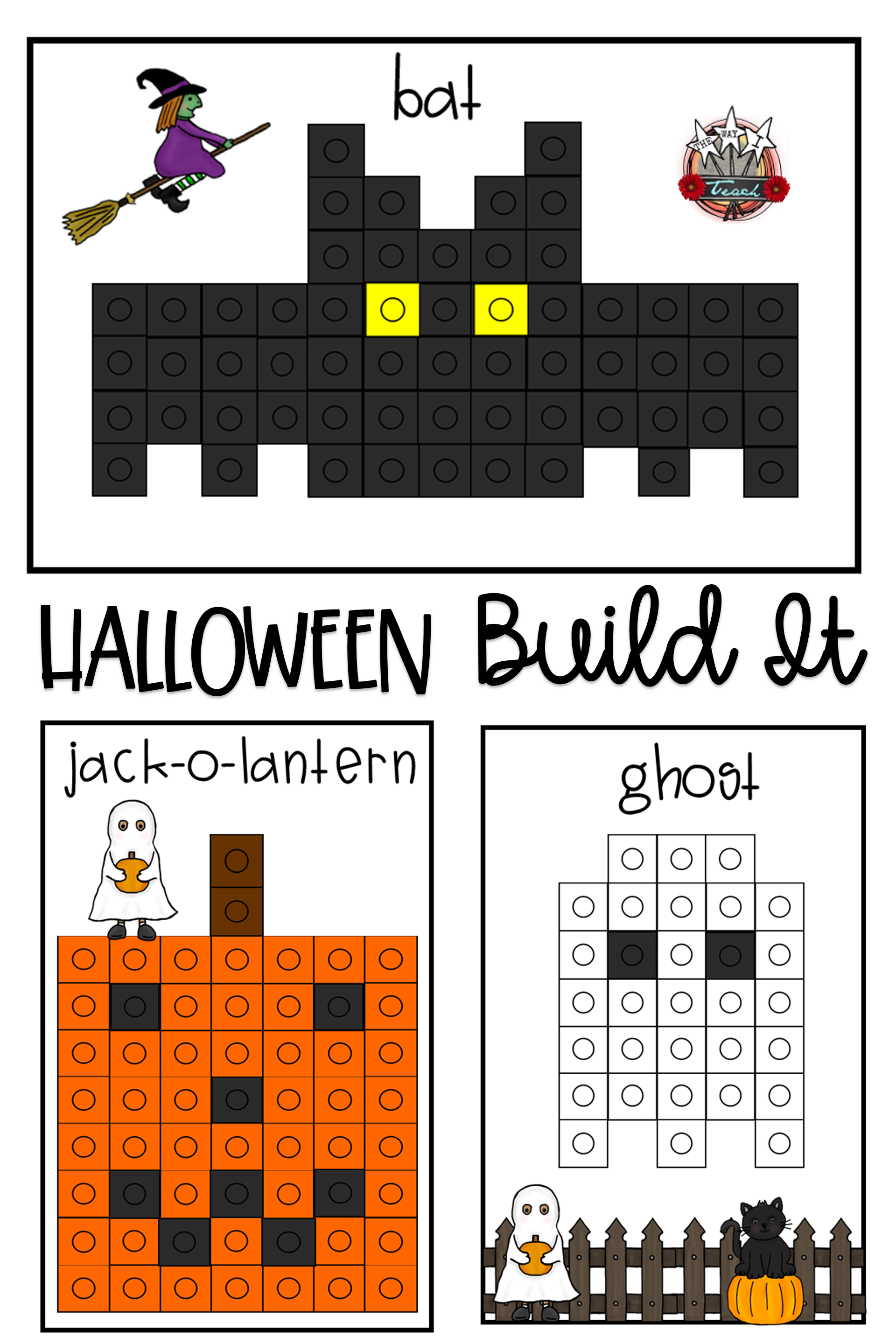 October Math Halloween Build It With Images