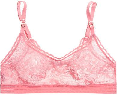 Stella McCartney - Breast Cancer Awareness Stella Stretch-lace Soft-cup Bra - Pink