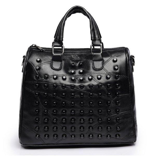 6d699b84af Kavard Rivets Handbag Women Tote Bag Luxury Designer High Quality Leather  Handbags Ladies Hand Bags Famous Brand Sac a main 2017