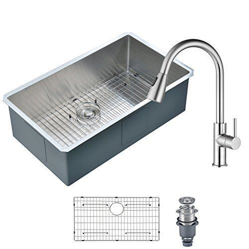 Mowa Hcm3018 Kitchen Sink And Faucet Combo 30 Inch Handmade