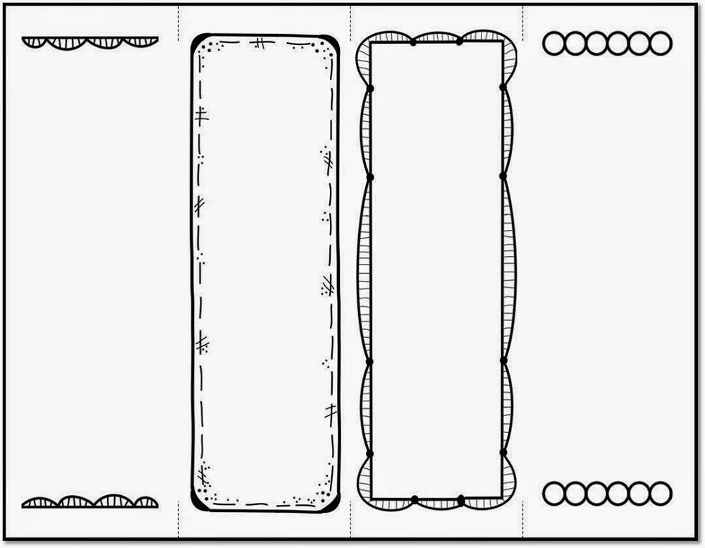 bookmark template to print