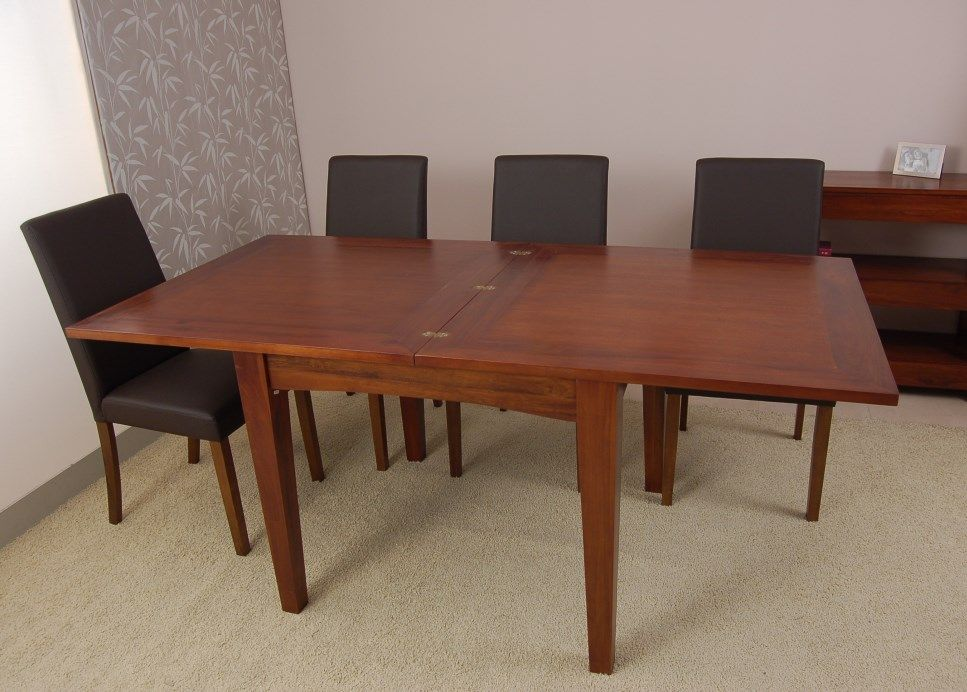Mesa de comedor cuadrada y extensible basic 4 de madera - Mesa comedor tipo libro ...