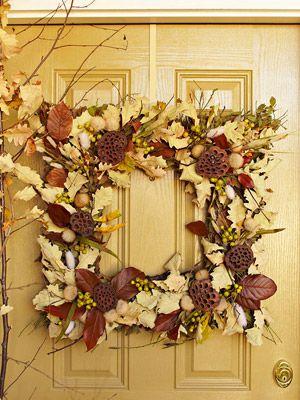 square wreath - pretty