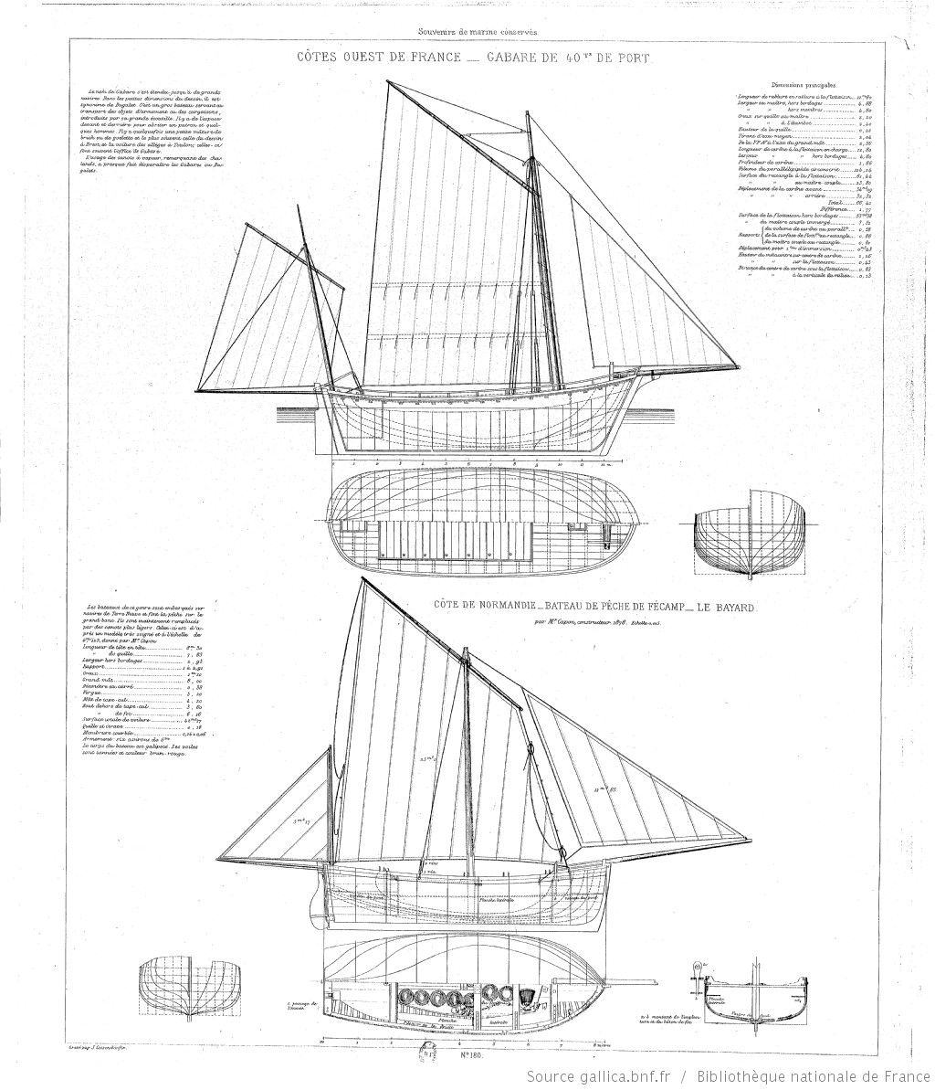 Collection de plans ou dessins de navires et de bateaux for Plans et dessins de construction