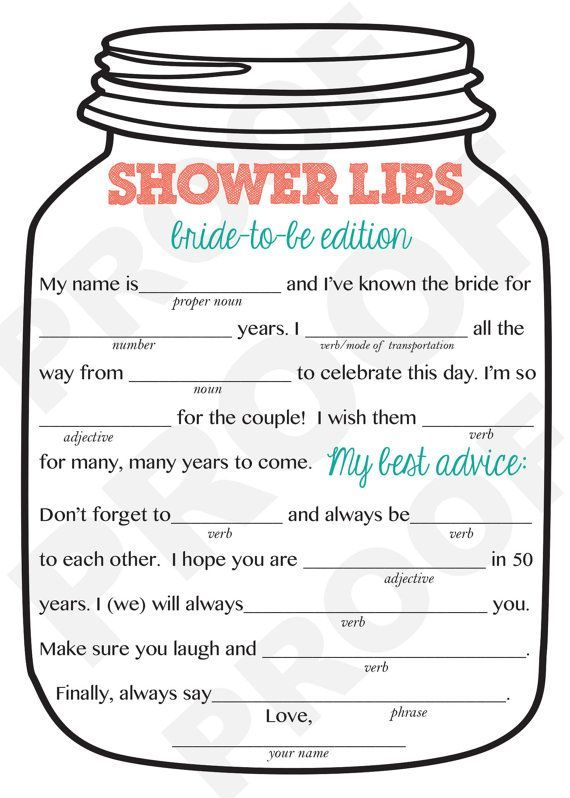 Current image with bridal shower mad libs free printable