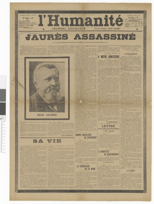 Expo Jaures Archives Nationales Assassine Humanite Nationale