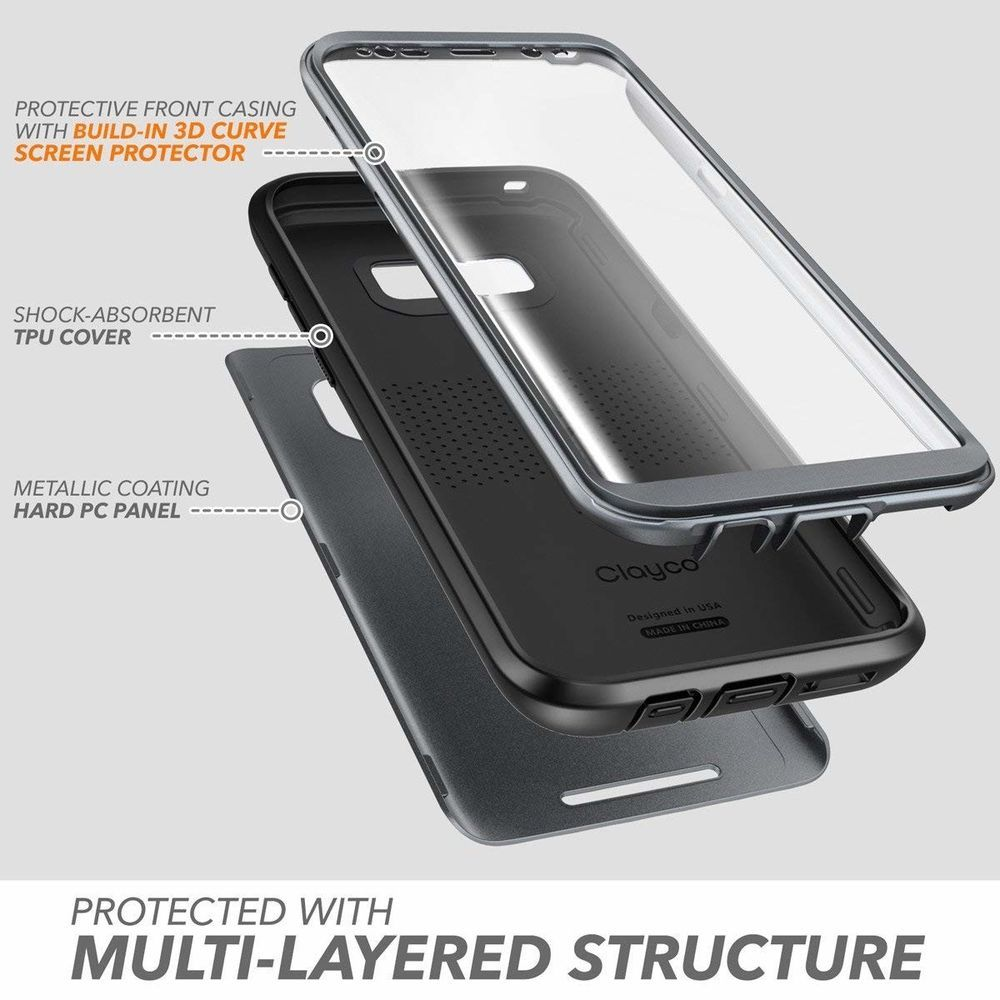 best loved 729d7 00c6a Details about Case For Samsung Galaxy S8+ Plus With Built-In Screen ...