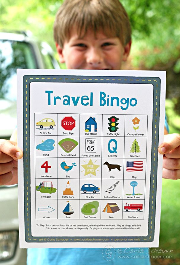 Road Trip Travel Bingo for Kids | Kid Fun | Travel bingo ...