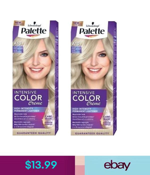 2x Palette A10 Hair Color Cream Ash Blonde Schwarzkopf Hair Dye Hair Color Cream Dyed Hair Schwarzkopf Hair Dye