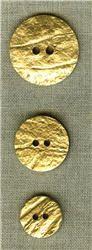 Bouton en Noix de coco doré.