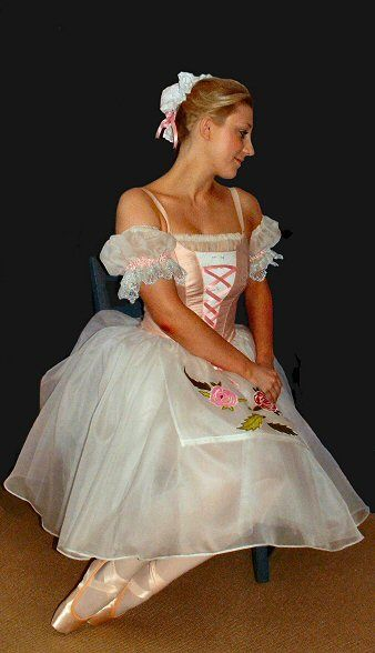"""This costume would be equally suited to such parts as Swanhilda from """"Coppélia"""", Giselle (with softer skirts), """"Napoli"""", """"Tarantella"""" and many other ..."""