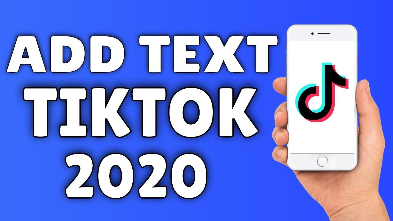How To Add Text To A Tiktok Video Add Music Music Ads