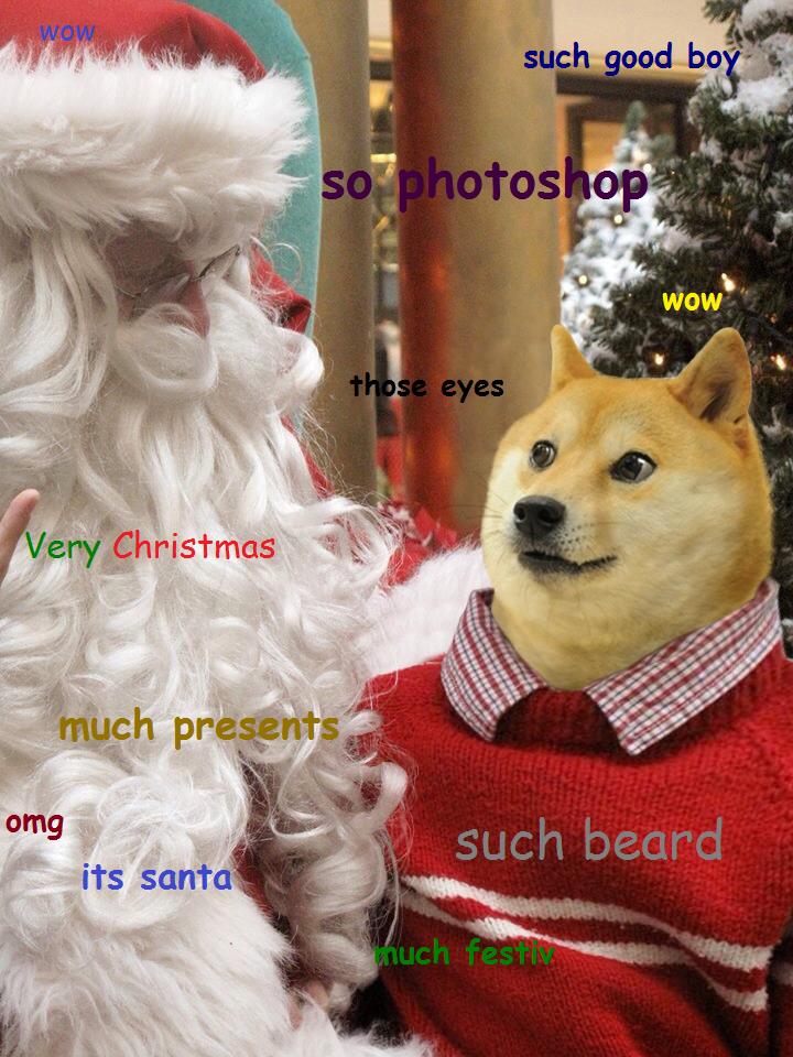 Christmas Doge Puppy jokes, Dog jokes, Doge meme