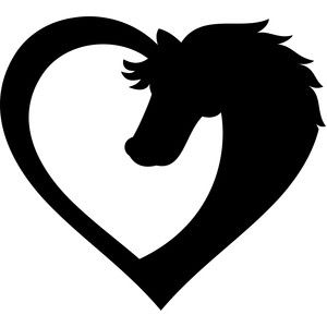 horse heart silhouette design silhouette and horse rh pinterest co uk Yin Yang Border Cool Yin Yang