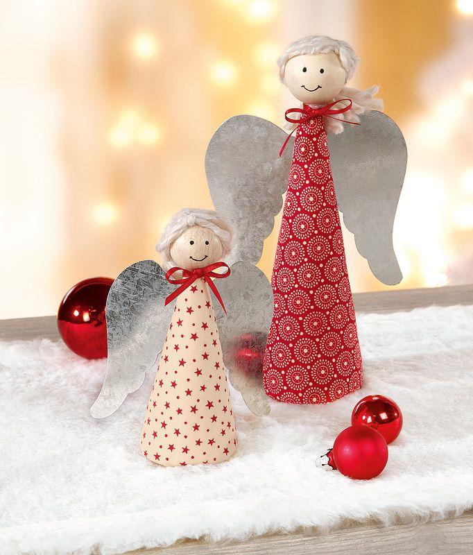 Fr hliche engel basteln pinterest - Weihnachtsdekoration basteln mit kindern ...