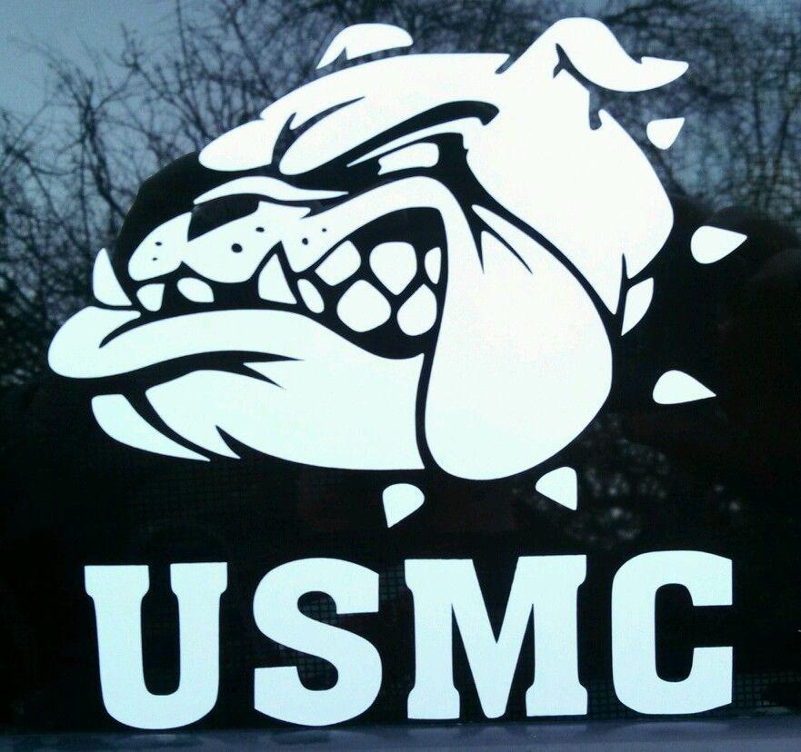 Usmc bull dog head decal marines marine corps military carsticker