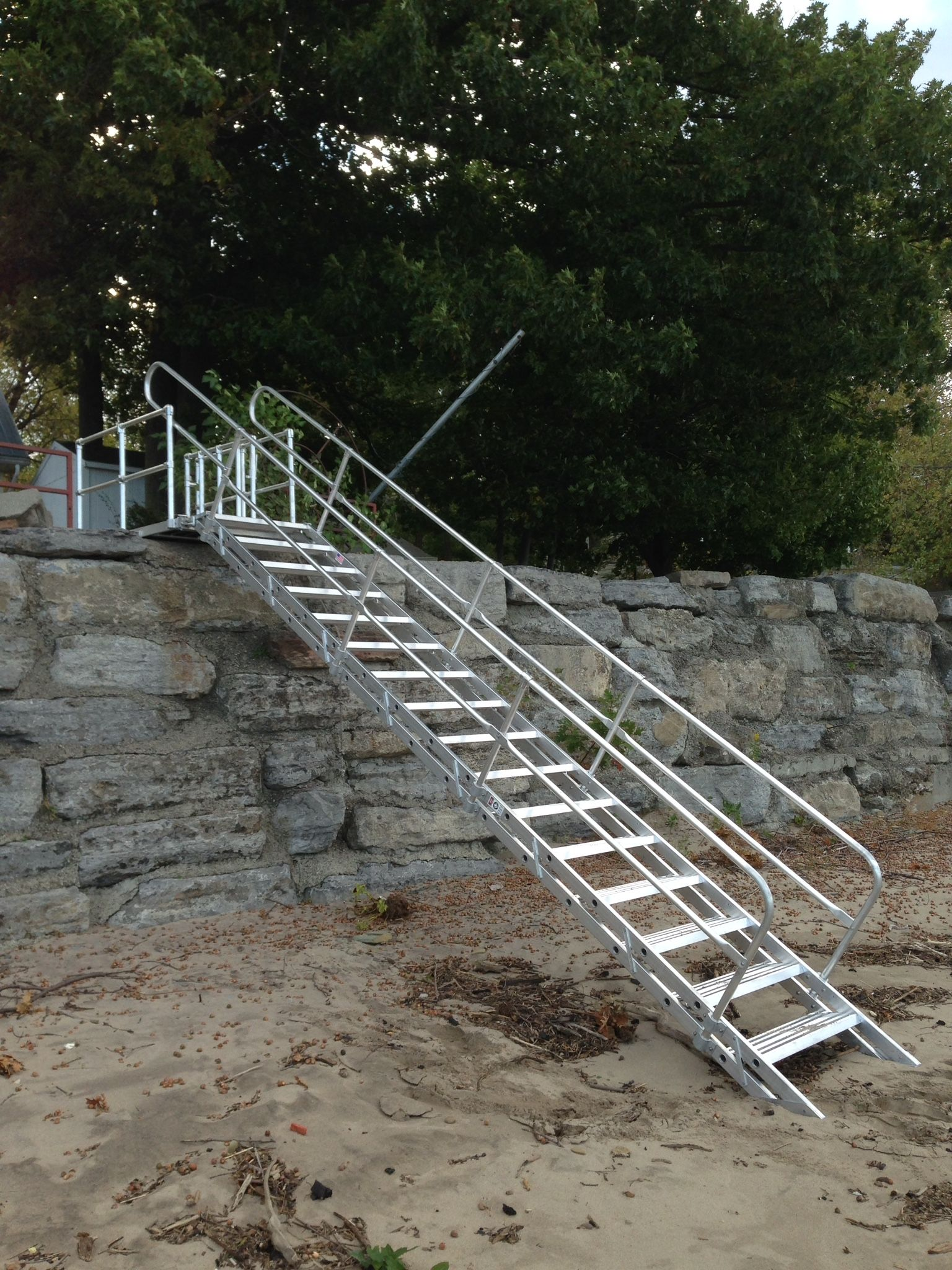 Platform And Stairway Beach Access For Lake Erie, NY! #lakeerie #stairway  #beachaccess #cottagelife #beachlife