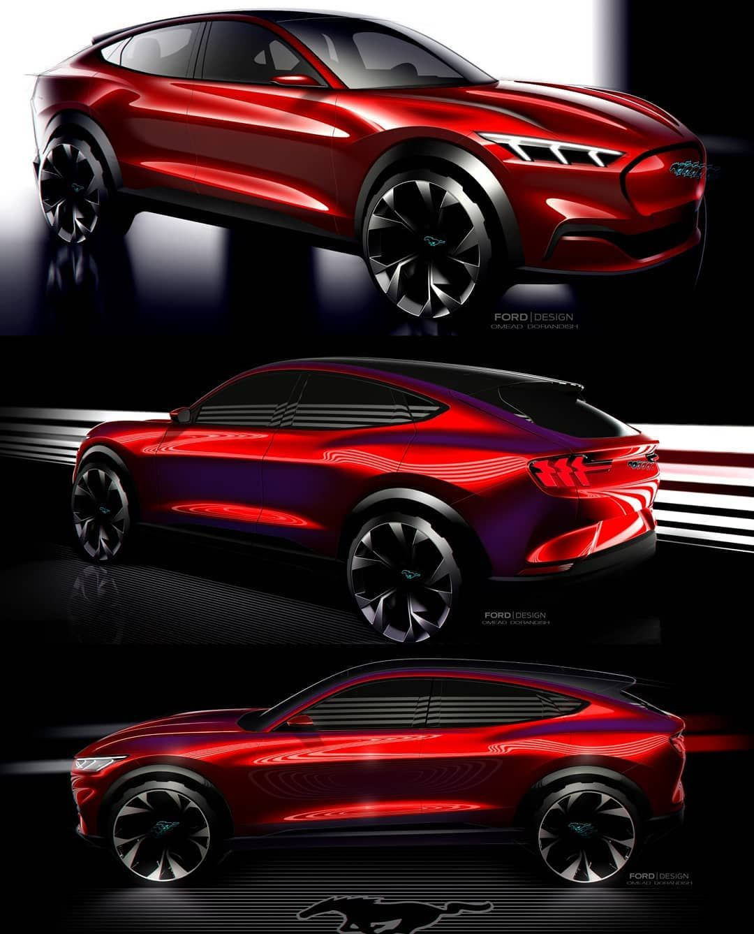 Design101trends On Instagram The Mustang Mach E Is Finally Revealed And Here Are Design Sketches Fordmustangmache Fordmache Design101trends