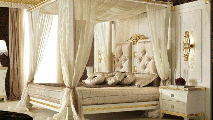 Schlafzimmergestaltung Himmelbetten Himmelbett Vorhang