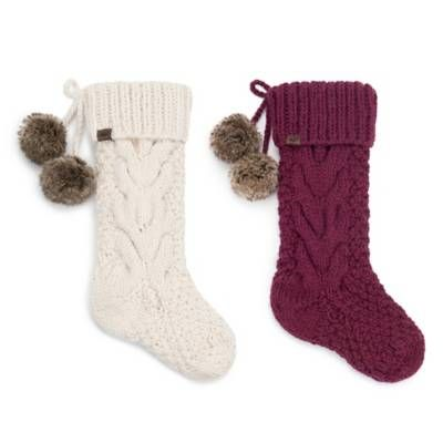 Ugg Cable Knit Christmas Décor Collection Bed Bath Beyond