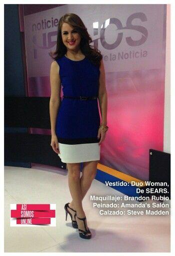 Look del día @celidamagana by Sears, Amanda's Salon, Brandon Rubio y Steve Madden. #AsíSomosOnline #Look #ElSalvador #CélidaMagaña #RoxanaWebb