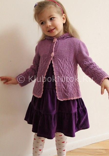 Кардиганы вязание спицами для девочек 3