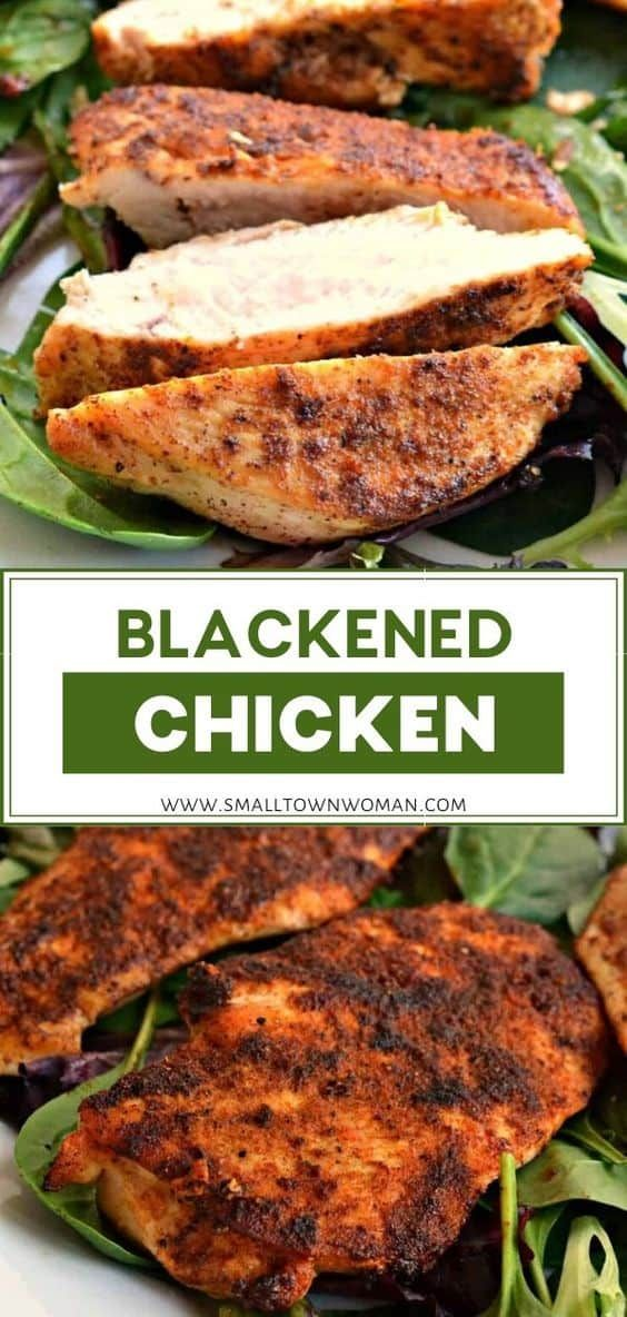 Easy Blackened Chicken | Small Town Woman