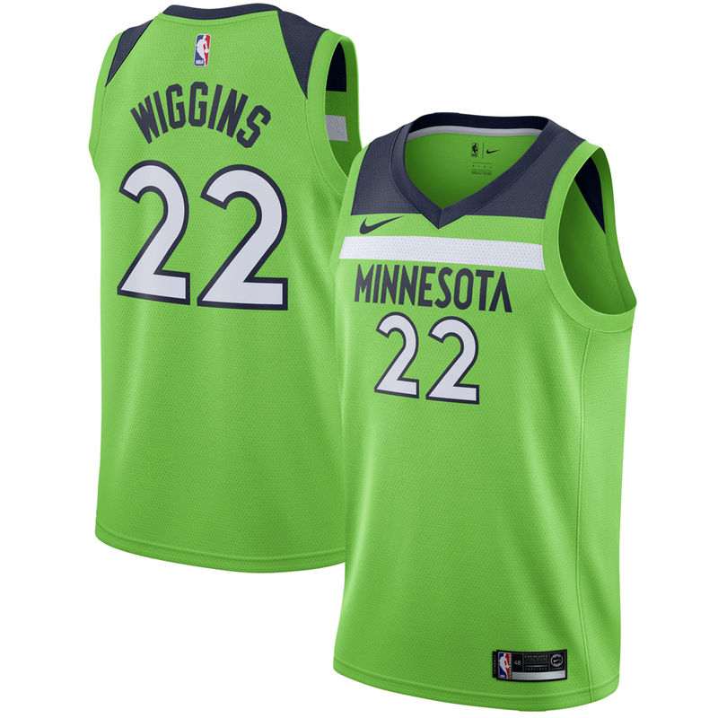 Andrew Wiggins Minnesota Timberwolves Nike Swingman Jersey Statement Edition Green Minnesota Timberwolves Karl Anthony Towns Anthony Towns