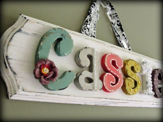 wood letters for nursery, I love this style - Welcome sign