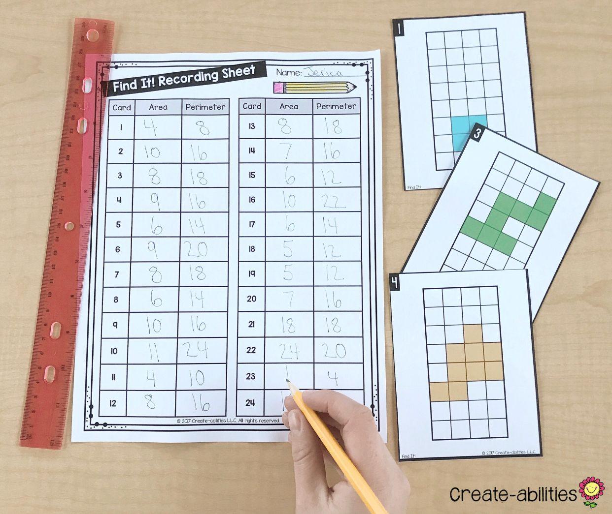 3rd Grade Measurement Math Centers Math centers, Math