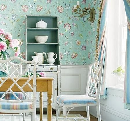 Stylish calm serene dining room designs in pastels