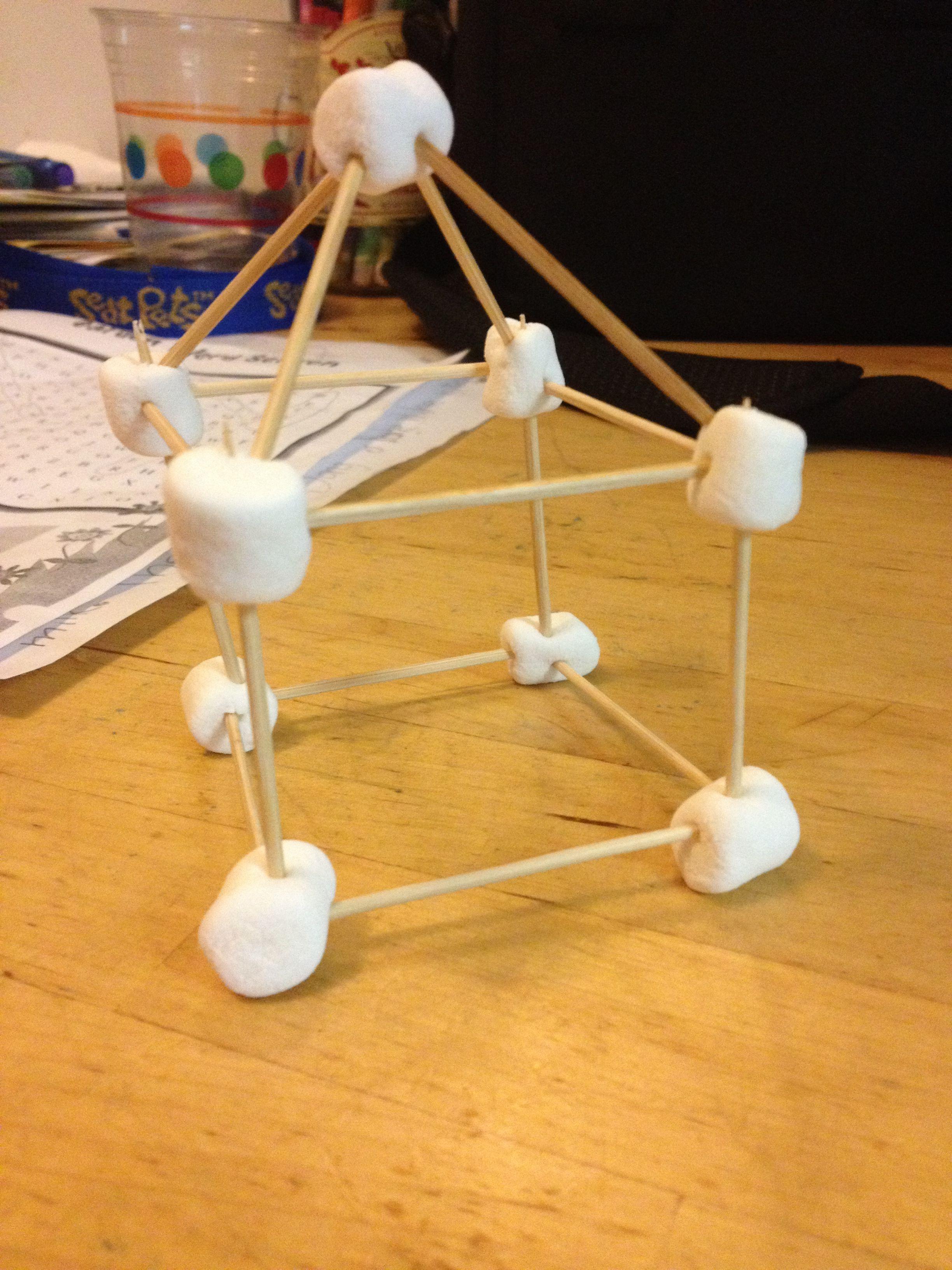 Mini Marshmallow Toothpick House Marshmallows