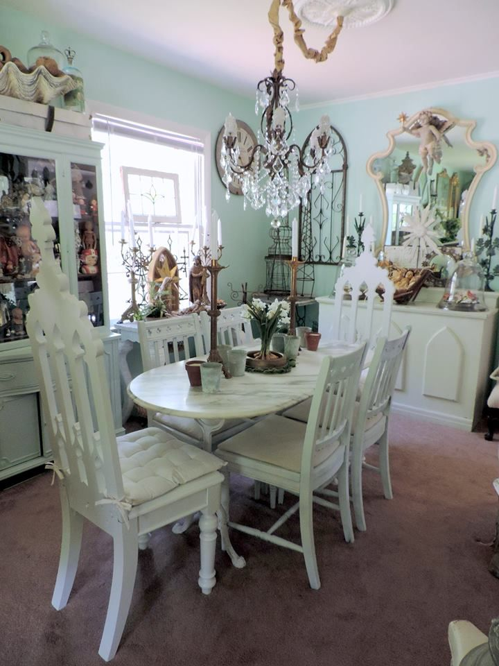 Shabby Chic Dining Yes Yes And I Even Have The Chandelier For Simple Shabby Chic Dining Room Decorating Inspiration