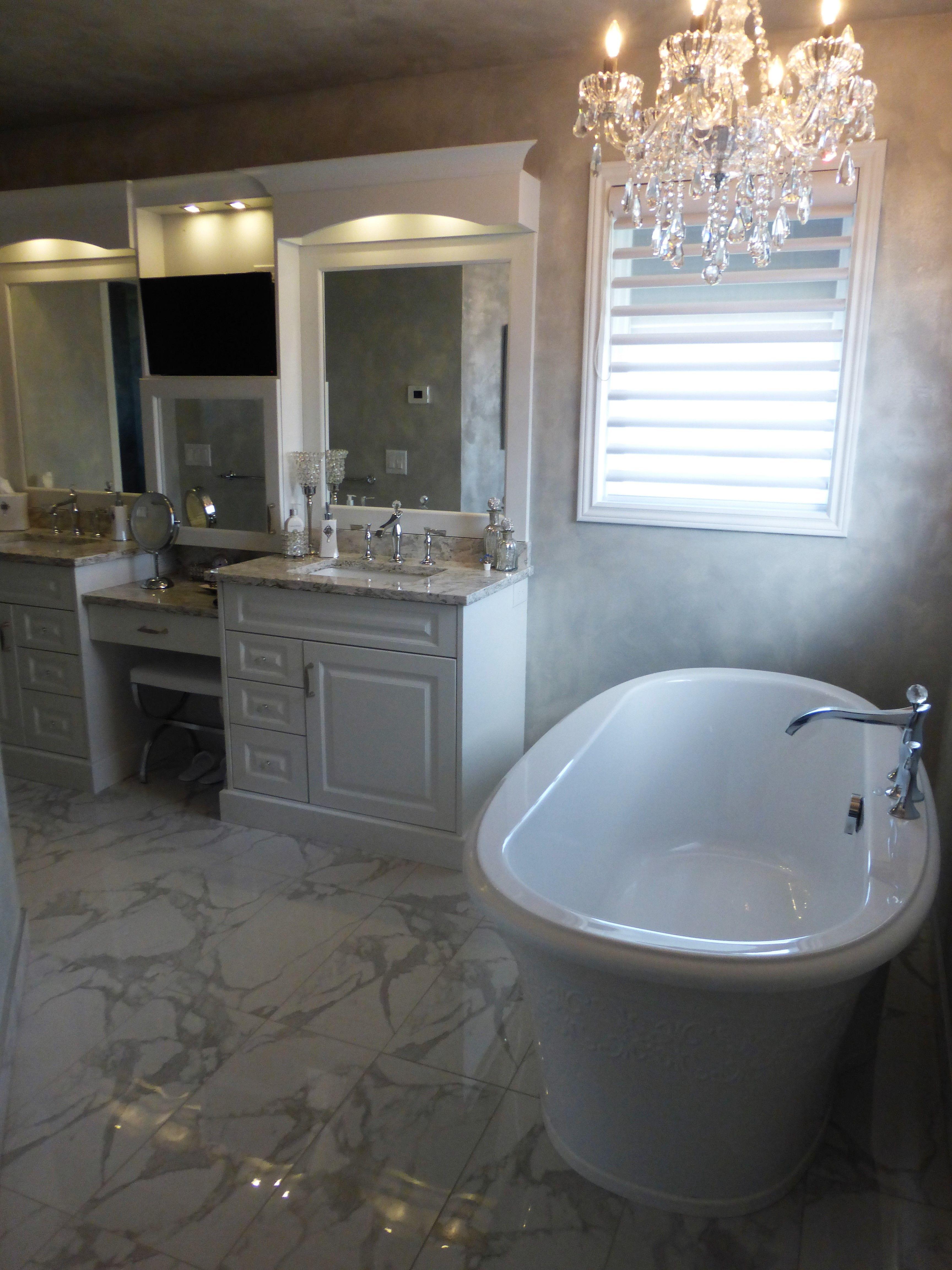 Bathroom. Custom. Cabinetry. Traditional Design. White ...