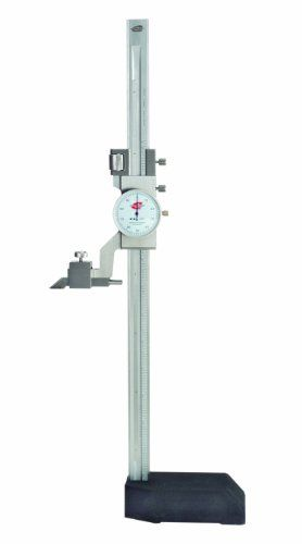 Standard Gage 07724002 Dial Height Gauge With White Dial Face 0 24 Measuring Range 0 100 Resolution Precision Measuring White Dial Measuring Instrument