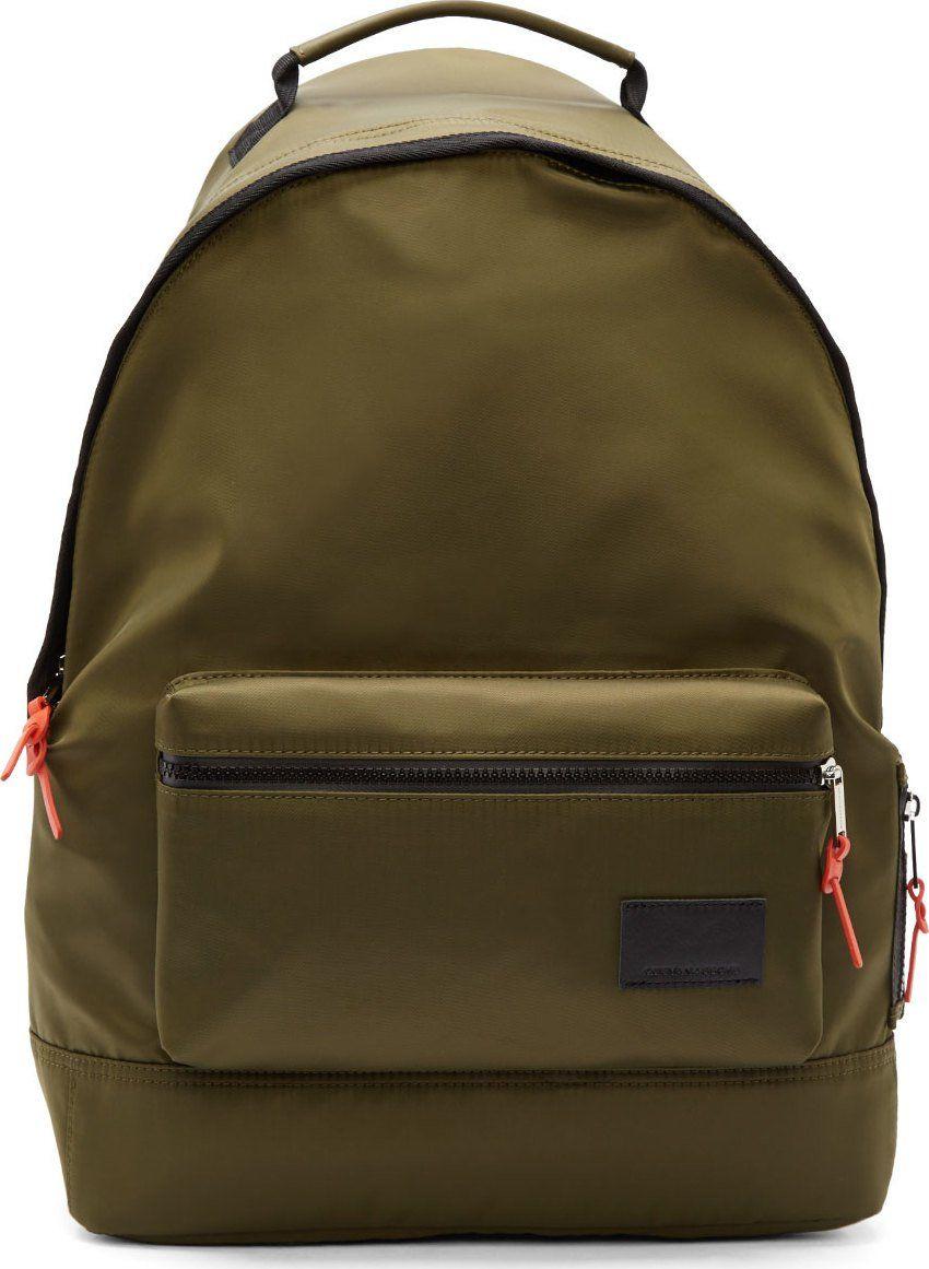 Krisvanassche Military Green Nylon Backpack