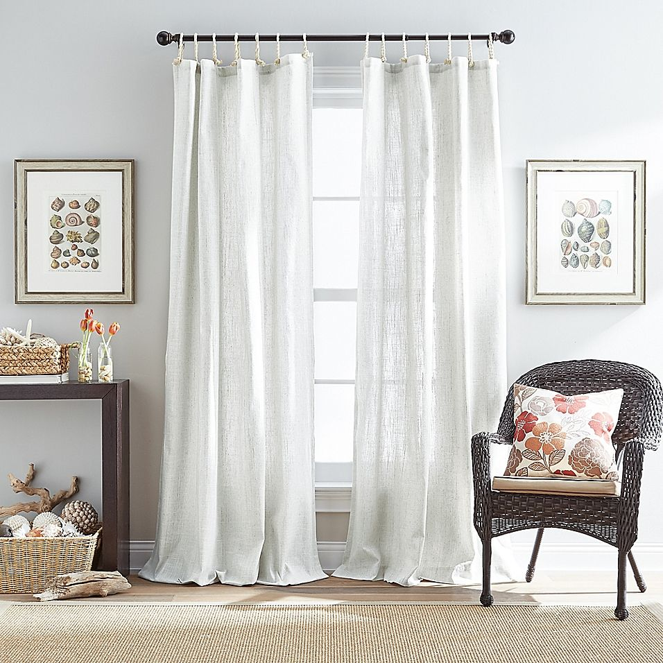Destinations Seattle Sheer 108 Rope Top Window Curtain Panel In