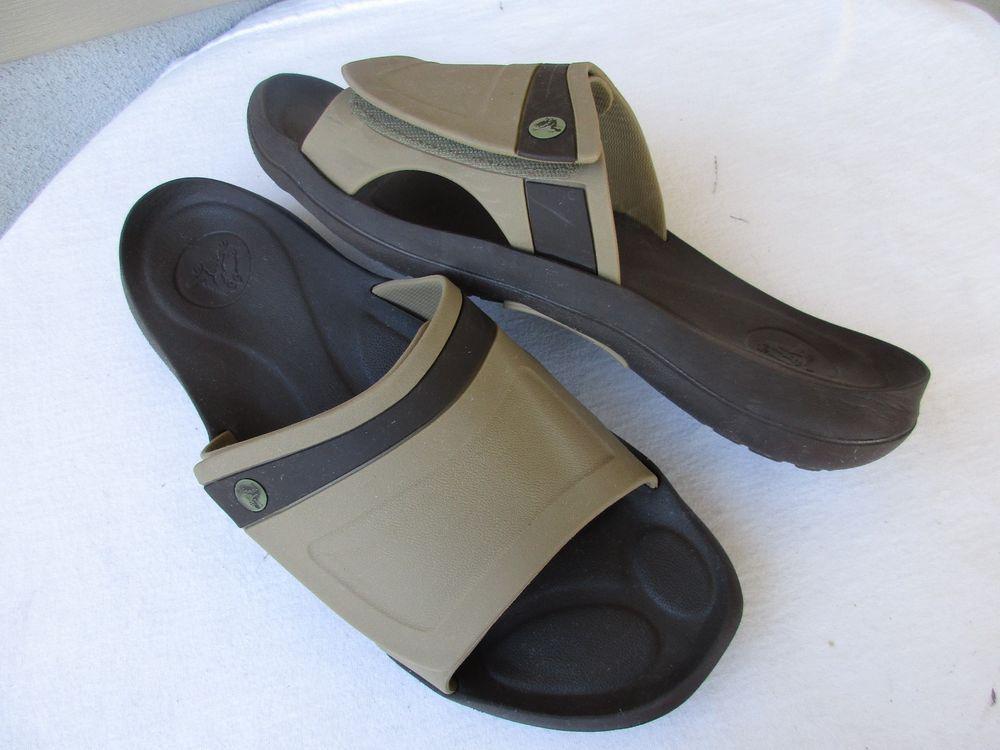 Crocs men sandals size 13 Rubber Velcro