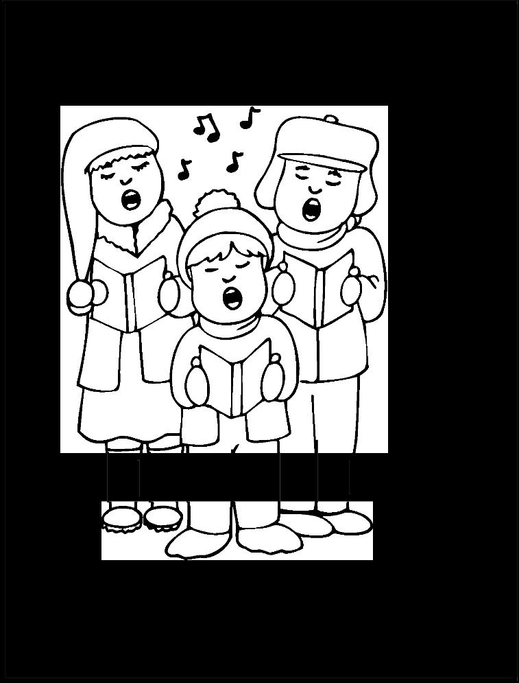 Niños cantando villancicos para colorear y recortar | omalovanky ...