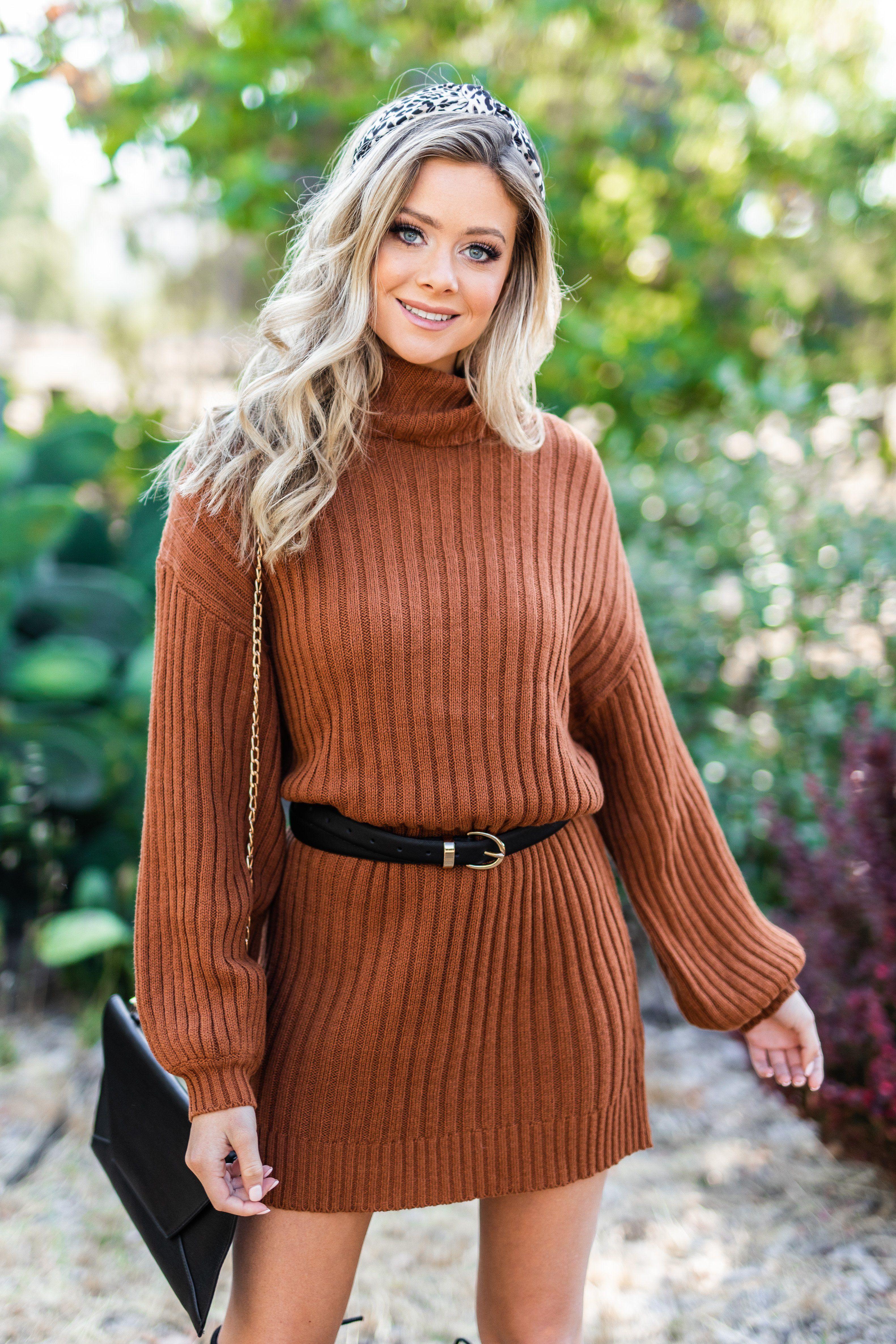 42+ Brown sweater dress info