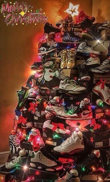 Christmas Shoe Tree.Merry Christmas Jordans Christmas Shoes Jordans Jordan