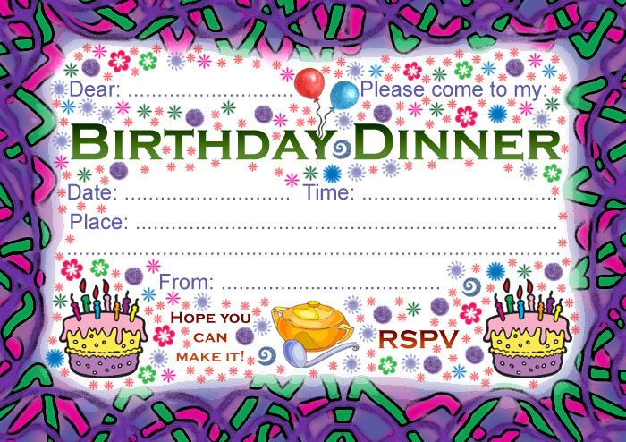 Birthday Dinner Invite My Birthday Pinterest Birthday - free dinner invitation templates
